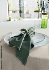 Donkergroene Mistral Home - set van 4 servetten - katoen polyester - 43x43 cm - donker groen