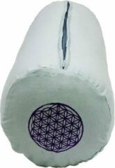 Lichtblauwe Green Tree Candle Company Green Tree Bolster Licht Blauw met Paarse Flower of Life