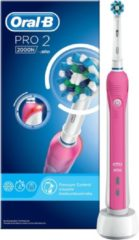 Fellowes Oral-B Pro 2 2000 CrossAction Pink Elektrische Tandenborstel,