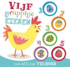 Massamarkt Rebo Vijf grappige eieren telboek