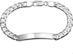 The Jewelry Collection For Men Graveerarmband Gourmet Plaat 6 mm - Zilver