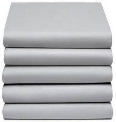 Licht-grijze Damai - Hoeslaken (tot 25 cm) - Katoen - 160/180 x 220 cm - Light grey