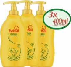 3x 400ml Zwitsal Shampoo met anti-prik formule