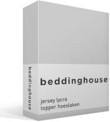 Licht-grijze Beddinghouse - Premium - Jersey Lycra - Topper Hoeslaken - 90/100 x 200/220 cm - Lichtgrijs