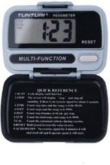 Grijze Tunturi Digitale Stappenteller - Pedometer - Walk Tracker