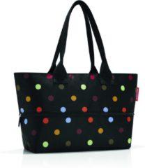 Reisenthel Shopper e1 Shopper - Schoudertas - Polyester - 12 naar 18 L - Dots Zwart