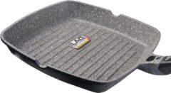Grijze Coninx Grillpan - 28 cm - 100% PFOA-vrij - Met afneembare handgreep - Voor gas, inductie en elektronische kookplaat