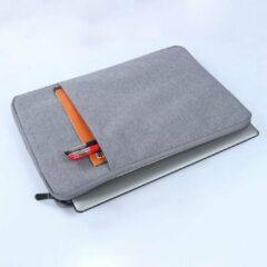 MoKo H721 Sleeve 15.4 inch Notebook Tas - Hoes Multipurpose voor Macbook Sleeve Bag Travel Aktetas voor HP DELL Xiaomi - grijs