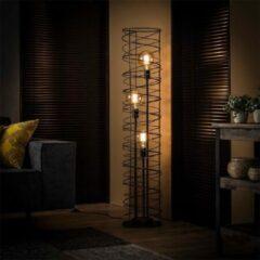 Antraciet-grijze Easy Furn Vloerlamp Solveij - 3 Lichts