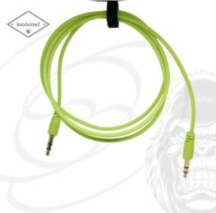 GoodvibeZ Audio Kabel 3.5mm Jack 1M male to male | Quality Cable | voor Auto Mobiel MP3-Speler Koptelefoon Speaker Mixer Headset | Groen