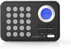 Witte Nedis FM Radio | 3 W | Clock & Alarm | USB Port & microSD Card Slot | Black / White