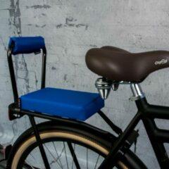Setje: Bagagedrager-kussen + rug-rolkussentje incl rugleuning Ohmiomine Koningsblauw 005