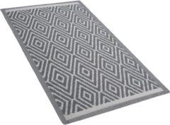 Licht-grijze Outdoor vloerkleed lichtgrijs 90 x 150 cm SIKAR