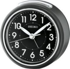 Zwarte Seiko wekker - QHE125K - Zwart kunststof kast