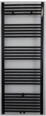 Douche Concurrent Designradiator Nile Gobi 180x60cm 1275 Watt Mat Zwart Middenonderaansluiting