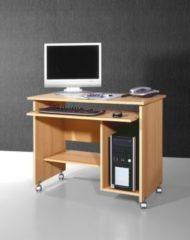 Germania Computertisch buche Rollen Schreibtisch Büro Tisch Büromöbel Computer