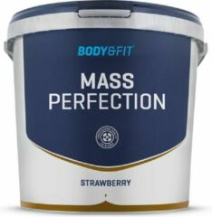 Body & Fit Mass Perfection - Weight gainer - 4400 gram - Aardbei Milkshake
