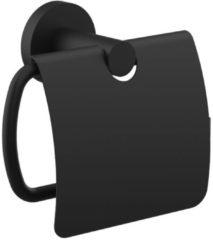 Douche Concurrent Toiletrolhouder Rondo 15x11.6cm Messing Mat Zwart