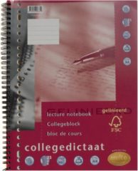 Multo collegedictaat ft 16,5 x 21 cm, gelijnd, 17-gaatsperforatie.