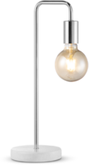 Zilveren Home sweet home tafellamp Noble Marble - marmer/mat satin