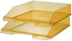 Brievenbak HAN A4 Standaard transparant geel