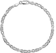 GLAMS The Jewelry Collection Armband Valkenoog 3,5 mm - Zilver