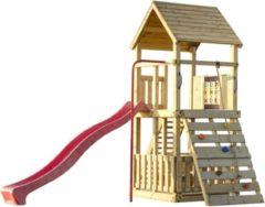 Woodvision Speeltoren Orang-Oetang inclusief Klimwand, Brandweerstang en Knopentouw