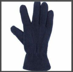 Donkerblauwe Merkloos / Sans marque Micro Fleece Handschoenen Navy S/M