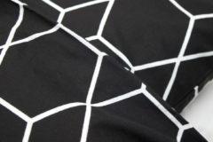 Witte Briljant Baby Grid junior - Dekbedovertrek - 120 x 150 cm - Zwart