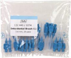 TePe Blauw 25 stuks - Interdentale ragers origineel -0.6 mm - Ragers - Voordeelverpakking