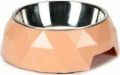 Beeztees Melamine Voerbakje Diamond 14x4 cm - Kattenvoerbak - Roze