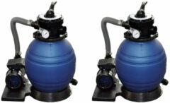 Blauwe Vidaxl Zandfilterpompen 2 St 400 W 11000 L/u