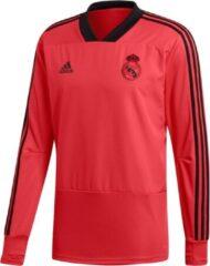 Koraalrode Adidas Real Madrid CL Trainingstop Heren - Real Coral S18/Black - Maat M