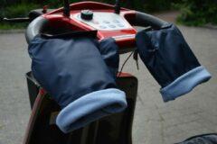 Marineblauwe HATSOME verwarmde scooterwanten