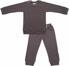 Taupe Little Indians Pyjama Pavement Junior Katoen Grijs Mt 0-3 Maanden