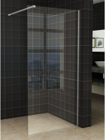 Afbeelding van Wiesbaden Slim glaswand 60x200cm met 8mm helder nano glas zonder profiel en stabilisatiestang 20.3451