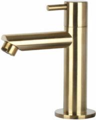 Differnz Mix toiletkraan geborsteld messing goud recht fonteinkraan
