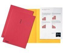 Esselte dossiermap rood, karton van 180 g/m², pak van 100 stuks