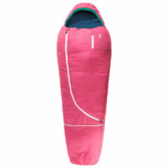 Grüezi Bag - Biopod Wolle Kids World Traveller - Kinderslaapzak maat 140-180 x 65 x45 cm, roze