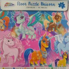 Grafix Extreem mooie Vloer puzzel Unicorn Eenhoorn