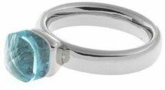 Biba Ring - Glazen Steen Blauw