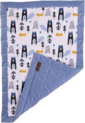 Kinderhop Kinder Hop Deken Triangles Jeans 50 X 70 Cm Katoen/fluweel Blauw
