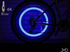 Jumada Spaakverlichting - Wielverlichting - LED-spaaklicht - Fietslamp - Kinderfiets - Set van 2 - Blauw