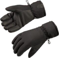 Gloves&Co Fleece gevoerde heren handschoen, zwart, maat XL
