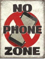 Desperate Enterprises No Phone Zone. Metalen wandbord 31,5 x 40,5 cm.