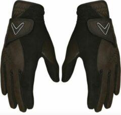 Zwarte Callaway Opti Grip regen handschoenen - Dames M