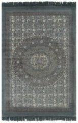 VidaXL Kelim vloerkleed met patroon 160x230 cm katoen grijs