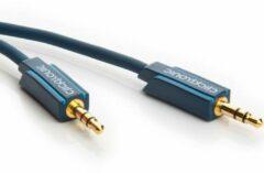 Clicktronic Jackplug Audio Aansluitkabel [1x Jackplug male 3.5 mm - 1x Jackplug male 3.5 mm] 1.00 m Blauw Vergulde steekcontacten