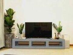 Grijze Betonlook TV-Meubel open vakken | Platinum Grey | 200x40x40 cm (LxBxH) | Betonlook Fabriek | Beton ciré