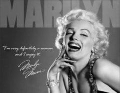 Grijze Usa Wandbord - Marilyn Monroe Definitely